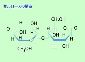 セルロースの構造の図
