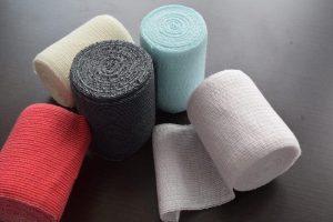 染色:カラー伸縮包帯